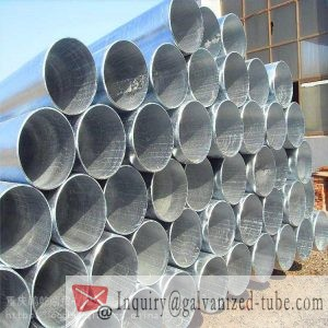 4″ Galvanized Round Steel Tubing