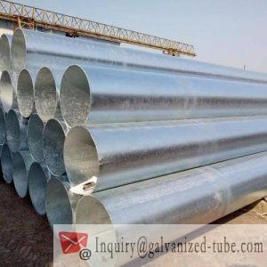 6″ Galvanized Round steel tubing
